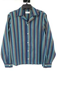 Saturdays NYC New York men's S long sleeve button up striped flannel shirt retro