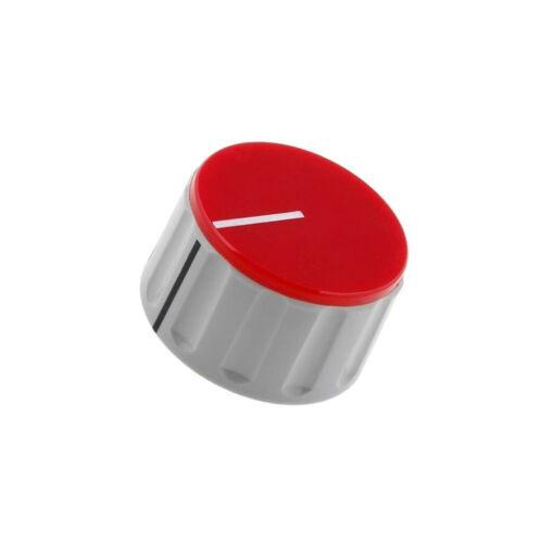 RN-110C-R6.1 Knob with pointer ABS Shaft d 6mm Ø36.5x20.5mm grey red SCI