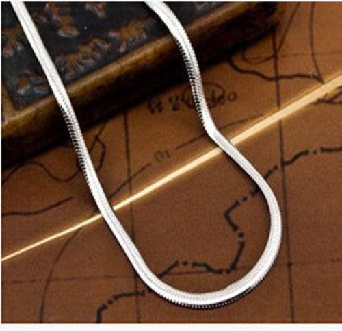 "Lot 1//5pcs 925 Silver 2mm Flat Snake Chain Necklaces 16/""-30/"" Women Men Jewellery"