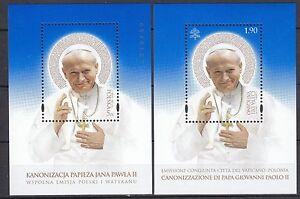 POLAND-VATIKAN-2014-MNH-SC-S-S-Canonization-of-Pope-John-Paul-II