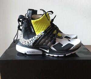 Details about Acronym x Nike Air Presto Mid 8-14 Dynamic Yellow Black White  AH7832-100
