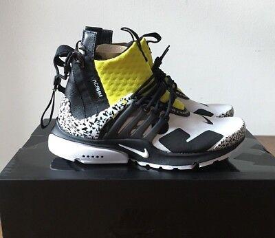 the best attitude ddc7c 408b4 Acronym x Nike Air Presto Mid 4-14 Dynamic Yellow Black White AH7832-100