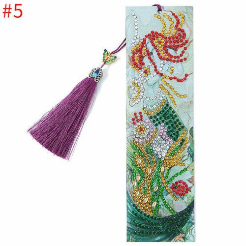 5D Diamond Painting Bookmark Embroidery Art DIY Tassel Craft Book Mark
