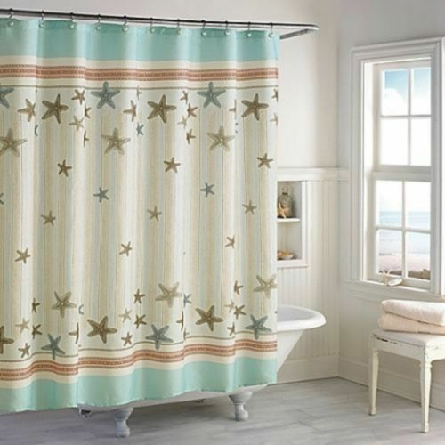 Signature Fabric Shower Curtain TREMITI Coastal Collection 70 X 72 Inches For Sale Online