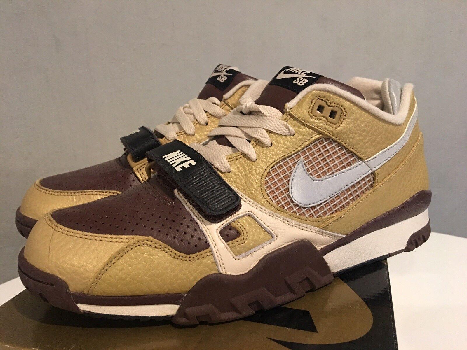 Men's Nike Air Trainer 2 SB metallic gold 328480-701 Sz11 SUPREME VNDS w BOX