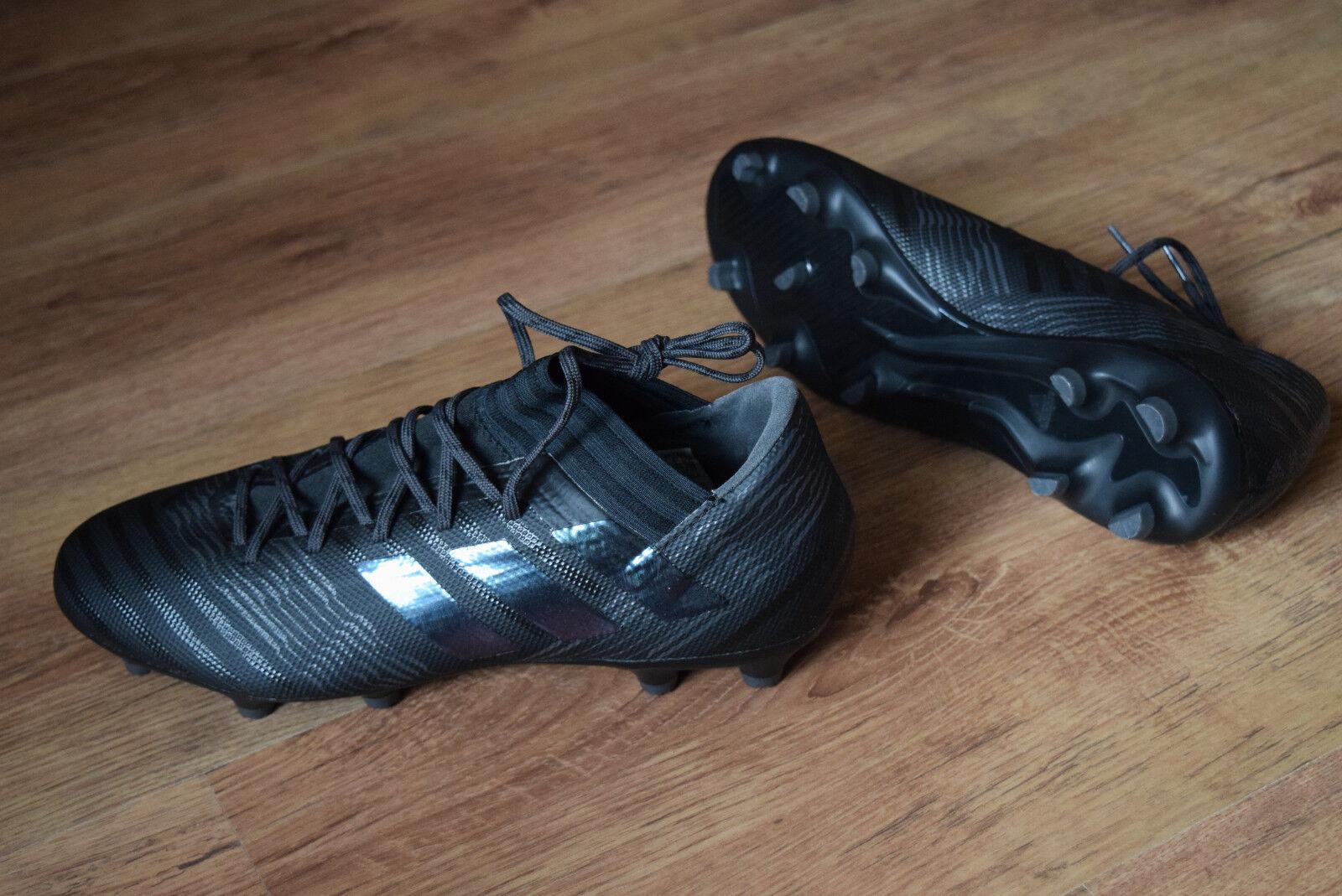 Adidas Nemeziz 17.3 Fg 40,5 42 Sautope da Calcio Tutto Nero S80600 Ace 17.3