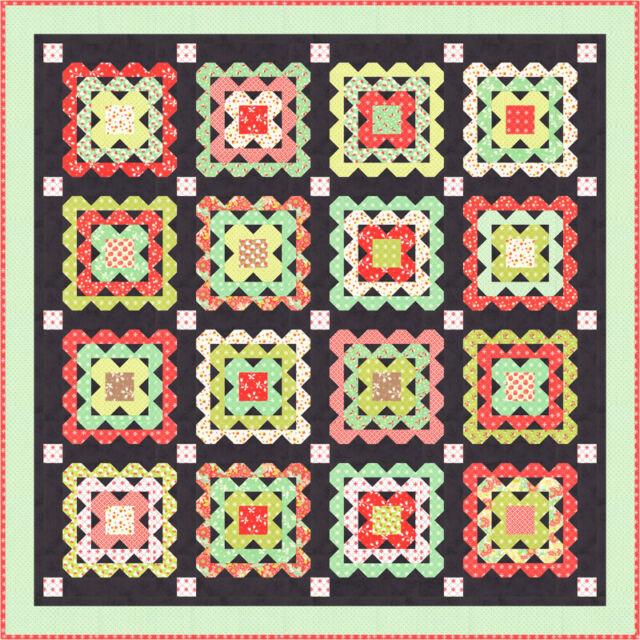 Scarlet /& Sage My Log Cabin 2 Quilt Kit by Fig Tree /& Co Joanna Figueroa