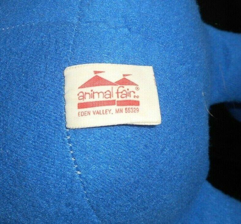 Vintage Animale Fair Buona N Amichevole Iga Giallo Giallo Giallo e Blu Peluche Peluche 8e5380