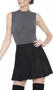 56dff829 Alice + Olivia Lee Suede Box Mini Skirt Black Lamb Size 0 NWOT | eBay