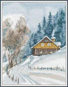 Counted-Cross-Stitch-Kit-OVEN-Winter-silence