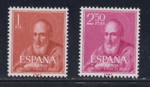 SPAIN-1960-MNH-COMPLETE-SET-SC-SCOTT-939-40-ST-JUAN-DE-RIBERA