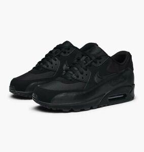 Nike-AIR-MAX-90-Essential-UK-7-US-8-EUR-41-Triplo-Nero-537384-090