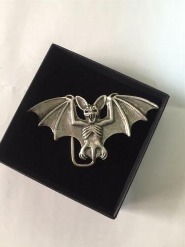 Étain Anglais-Bat-Boucle de ceinture Dracula Gothique