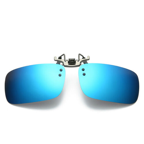 Polarized Lenses Flip-Up Clip On Sunglasses UV400 Driving Outdoor Glasses UK