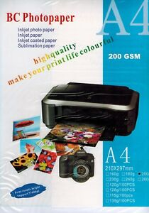 100-Sheets-of-Photo-Paper-Premium-Glossy-A4-210mmx297mm-200gsm-White