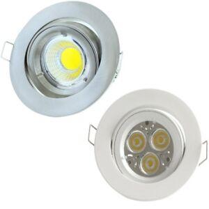 LED-Einbaustrahler-rund-schwenkbar-3W-4W-5W-GU10-230V-MR16-12V-Set-Spot-Lampe