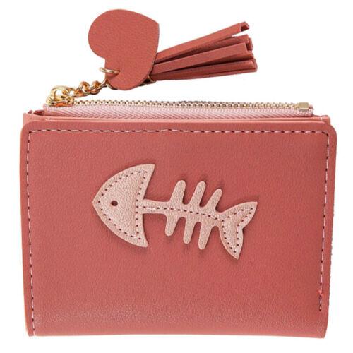 Damen Kleine Geldbeutel Geldbörse Brieftasche Portemonnaie Portmonee Gräten Mode