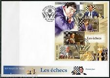 NIGER 2015 CHESS FISCHER CARLSEN  KASPAROV & KARPOV SHEET FIRST DAY COVER