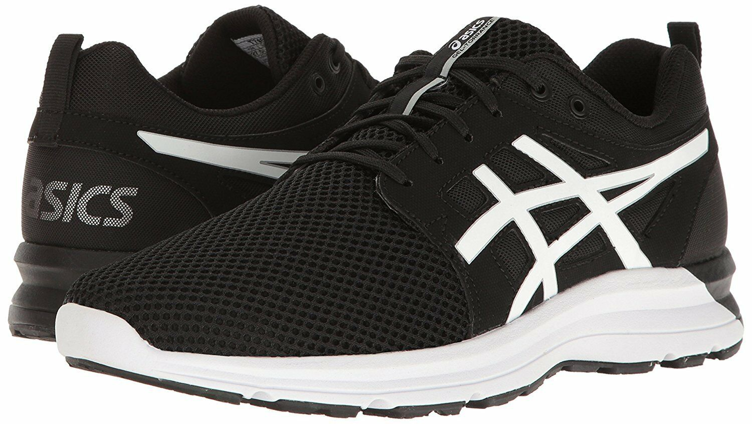 Asics Mens  Gel -Torrance gym running casual shoes  Trainers Black White Silver