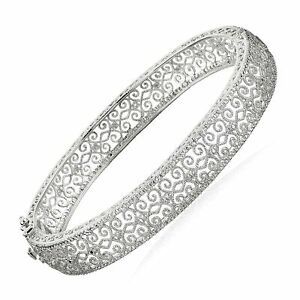 Filigree-Bangle-Bracelet-with-Diamond-in-Sterling-Silver-7-25-034