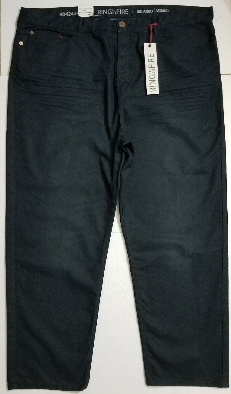 NWT RING OF FIRE ASGARD RELAXED Fit Dark Wash jeans TAG SZ 48X32 (49X32 measured