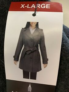 London Fog Womens Dark Teal Jacket Trench Coat Nwt Size Xlarge Ebay