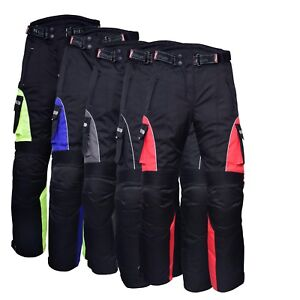 Motorbike-Motorcycle-Waterproof-Cordura-Textile-Trousers-Pants-Armours-Reflector