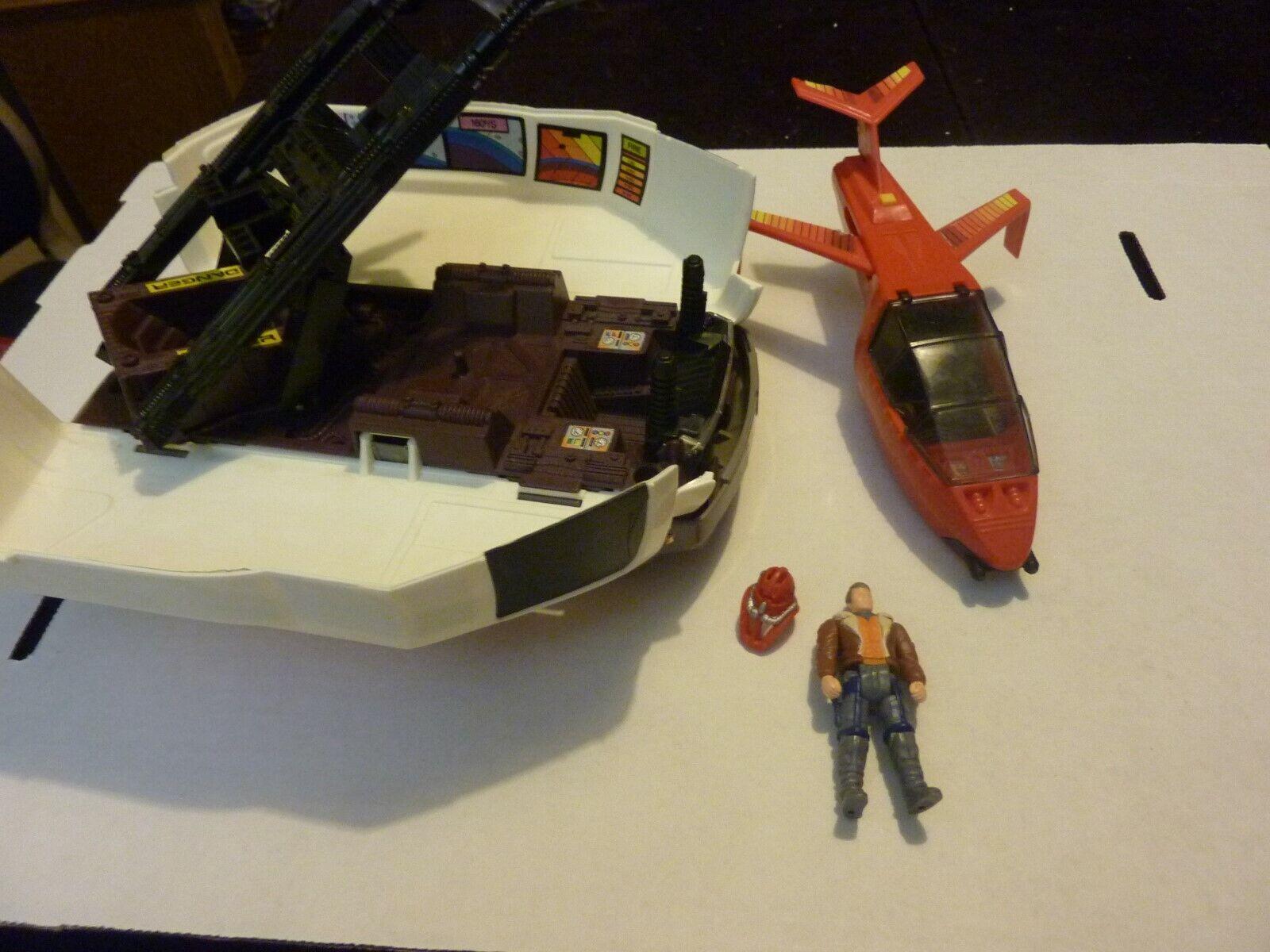 Vintage Kenner M.A.S.K. Slingscaliente Van Vehicle Jet Driver Ace Riker Near completare