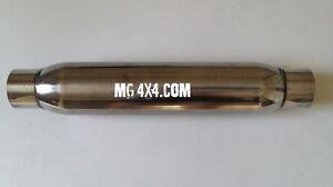 Silencieux-Echappement-Glasspack-INOX-50mm-2-034-UNIVERSEL-NEUF