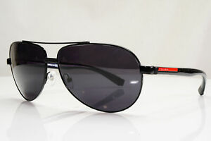 Authentic-PRADA-Mens-Sunglasses-Pilot-SPS-51N-7AX-1A1-28584