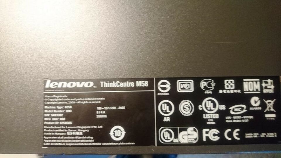 Lenovo, ThinkCentre M58, 2,93 Ghz