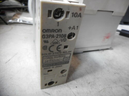 G3PA-210B-VD OMRON SOLID STATE RELAYS Qty of 3 10amps 5...24DC Coils