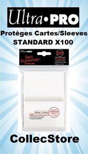 Protèges Cartes Transparent x100 66x91mm Standard Magic Pokemon FR Ultra Pro
