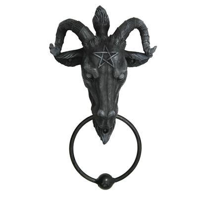 Hingebungsvoll Türklopfer Baphomet Teufel Satan Halloween Dekoration Deko Fantasy Nn66 Mittelalter & Gothic