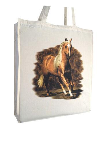 Striking Horse Equestrian b Cotton Shopping Bag Gusset Long Handles Perfect Gift