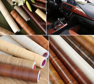 Decors-Matte-Glossy-Wood-Grain-Textured-Vinyl-Wrap-Sticker-Car-Home-Change-AB