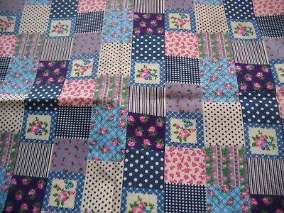 coupon tissu patchwork Quilt-Gate gentle flower petites fleurs biscuit 45x55cm