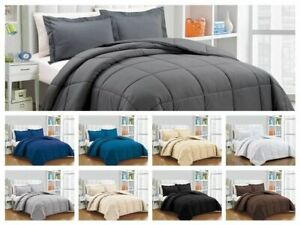 Down Alternative Comforter 300GSM & 400GSM Solid Color All Sizes 1000 TC