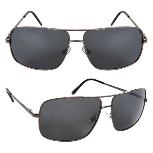 Polarized Aviator Fishing Sunglasses Big and Tall XLarge Square Anti Glare Metal