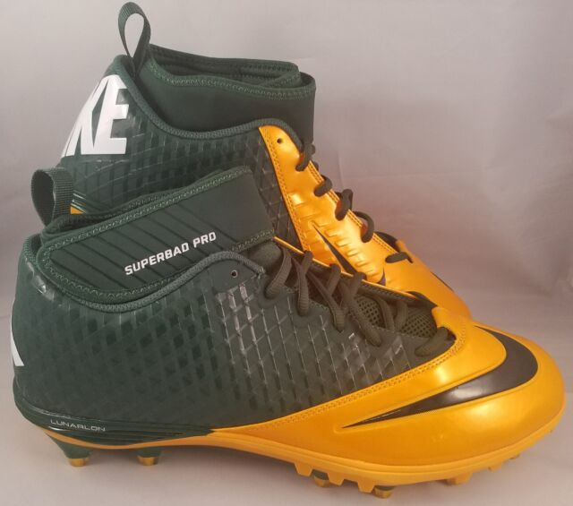 e1f4c5c01 Nike Lunar Superbad Pro TD Football Cleats Men s Size 14 Green Yellow  PACKERS