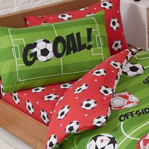 Football-Rouge-Drap-Simple-Set-Taie-D-039-Oreiller-Enfants-Coucher-Jeu