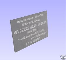 1 Plaque personnalisée Gravure sur métal ALU 50 x100 mm type constructeur.