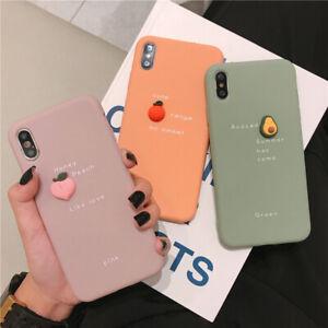 Pour-IPHONE-6-11-Pro-Max-Etui-Housse-3D-Fruit-Peche-Avocat-Orange-Phone-Coque