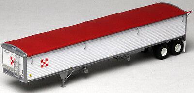 Lonestar Models 6030 43/' Wilson Grain Trailer Kit Ptd Black w//Red Tarp 1//87 HO