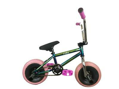 "1080 Mini Vélo BMX 10/"" Roues Freestyle Stunt Vélo-Jet Fuel Neo-Chrome Rose"