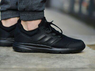 Adidas Men Shoes Running Galaxy 4 Sports Cloudfoam Training Wokrout Black EE7917 | eBay
