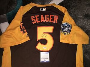 new concept 42189 02b27 Details about Corey Seager Signed 2016 All Star Jersey Los Angeles Dodgers  Rookie Beckett #2