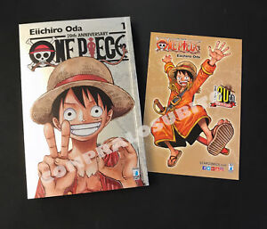 Manga-ONE-PIECE-1-SILVER-LIMITED-EDITION-cartolina-GOLD