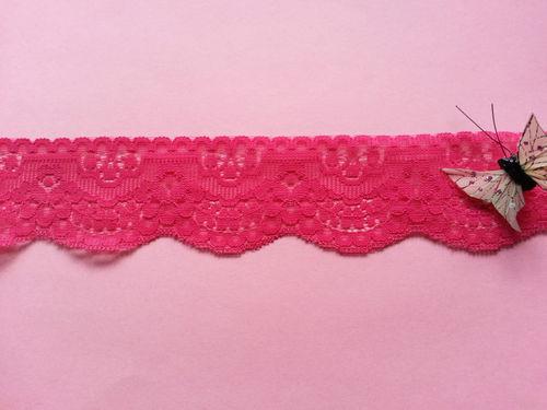 CILIEGIA Rosa Pizzo Taglio di due pollici 5cm 50mm larghezza scegli lunghezza