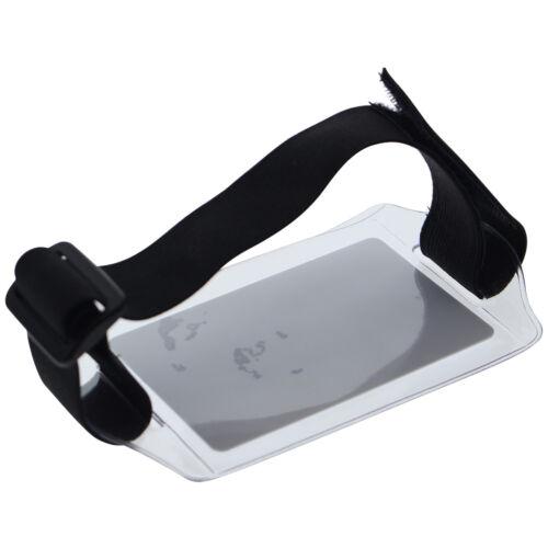 Horizontal Armband ID Badge Holder with Elastic /& Hook /& Loop Closure Arm Band